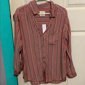 Long sleeve button down striped shirt
